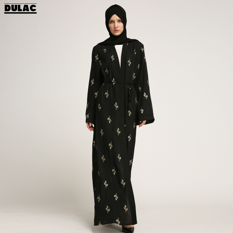 2018 Ramadan Eid Al-fitr Moslim Vrouwen Fashion Gown Bronzing Casual Losse Gewaad Midden-oosten Abaya Islamitische Arabische Vest Lange Jurk Grote Rassen