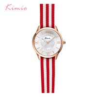 Kimio Women Ribbon Bracelet Watches 2017 Classic Ladies Stripe Dress Quartz Watch For Woman Clock With