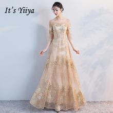Женское вечернее кружевное платье it's yiiya длинное прямое