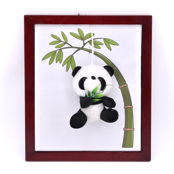 Panda Frame Magic Tricks Plush Panda Toy Appearing From Board Magia Magician Stage Party Gimmick Props Illusion Mentalism Funny