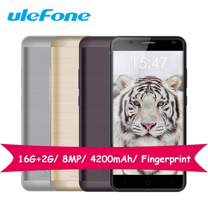 Ulefone tigre mt6737 quad core 1.3 ghz smartphone 16g rom 2g ram 5.5 pulgadas an