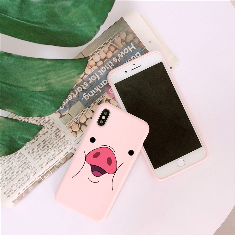 Funda TPU Disney Minnie 046 Rosa para iPhone 6 - iPhone 7 - iPhone 8