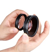 52MM 0.45x Wide Angle Lens + Macro Lens 72 UV Front Filter Thread for Nikon D5000 D5100 D3100 D7000 D3200 D80 D90 DSLR Cameras