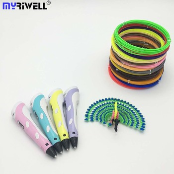 Myriwell 3D Pen with LCD Screen 1.75mm ABS Filament Drawing 3D Drawing Pen with LED Display for Kids and Adult for Arts & Crafts 3D Pens