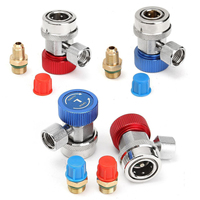 R134A Hoge Lage Verstelbare Snelkoppeling Connector Adapters Auto AC Airconditioning Koelmiddel Manometer Auto Set Mayitr