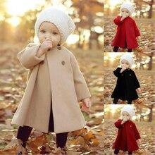 Весенне-Зимняя шерстяная куртка для маленьких девочек и мальчиков; пальто; Одежда для новорожденных малышей; Рождественский новогодний костюм; Смешанная одежда; верхняя одежда