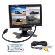 7 Inch TFT LCD Car Monitor 4 Ch Video Input For Rear View Camera DVD GPS With Remote Control 800X480 Headrest Display