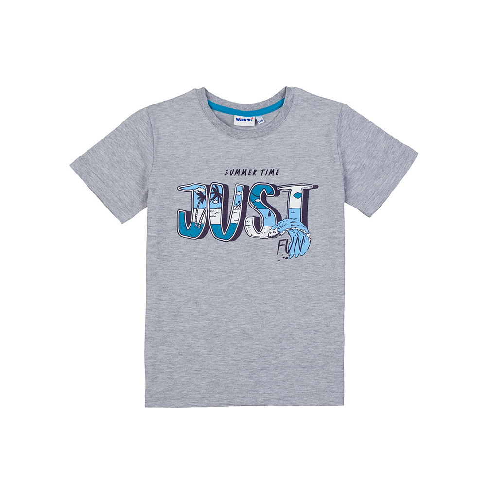 T-Shirts Winkiki for boys WJB81050 Top Kids T shirt Baby clothing Tops Children clothes fashion casual 2pcs kids baby boys anchor letters t shirt shorts set summer clothes 2 7years