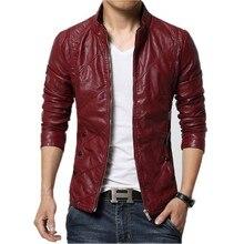 Autumn Soft Faux Leather Jackets Men 2018 Fashion Solid Slim Fit Motorcycle Jacket Top Quality Men Coats jaqueta de couro 5XL-M
