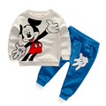 Mickey Baby Girls Boys Sets Clothing Minnie Mouse Cartoon Kids Print T Shirts+Sport Trousers Track Suits Vetement Enfant Fille