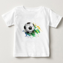 Trendy football print kids t-shirt boy favorite sports T-shirt fashion cotton sweatshirt