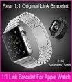 1:1 original bracelete de elos de aço inoxidável band para apple watch 42mm 38mm Remover Links Sem Quaisquer Ferramentas de Ajuste Para A Série 1 & 2
