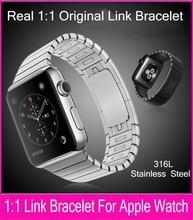 Nueva venda de acero inoxidable para Apple reloj de pulsera del acoplamiento 42 mm Real 1:1 Original correas de reloj y eliminar Links sin ningún tipo de herramienta
