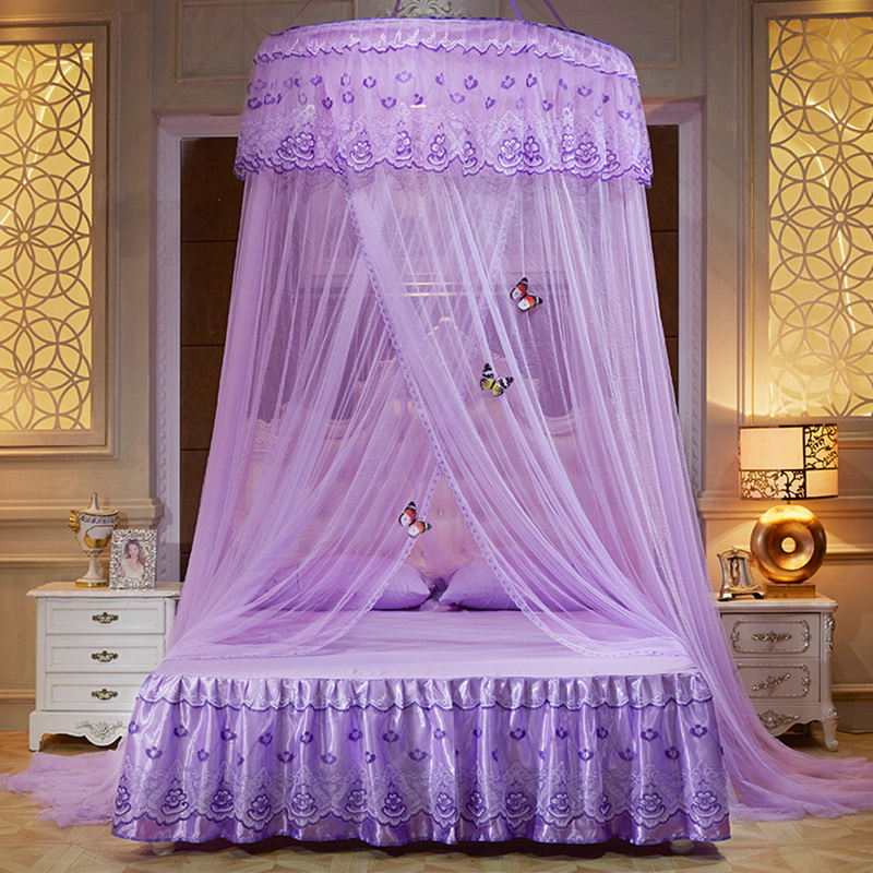 Urijk Round Lace Mosquito Net Home Decor Canopy Bed Netting for Bed Bedding Curtain Dome Fabric Home Textile Summer Product