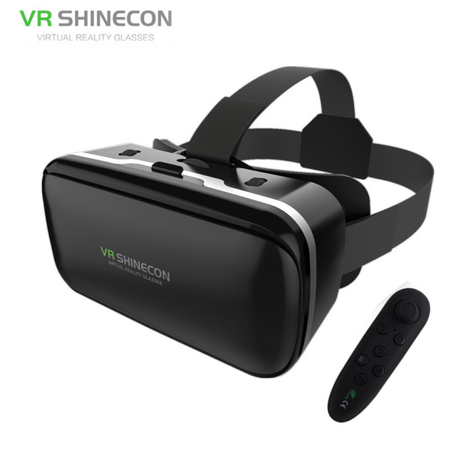 583fca31738a VR Shinecon G04 Pro Mobile 3D Movie Glasses Helmet Vritual Reality Goggles  Vr Headset Cardboard For 4.5-6 Smartphone+Controller