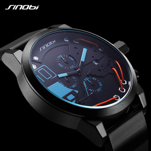 Image 4 - 2020 Metal Wire Top Brand Multifunction Full Steel Quartz Clock Sinobi Racing Sport Men Chronograph Watch Male Relogio Masculino