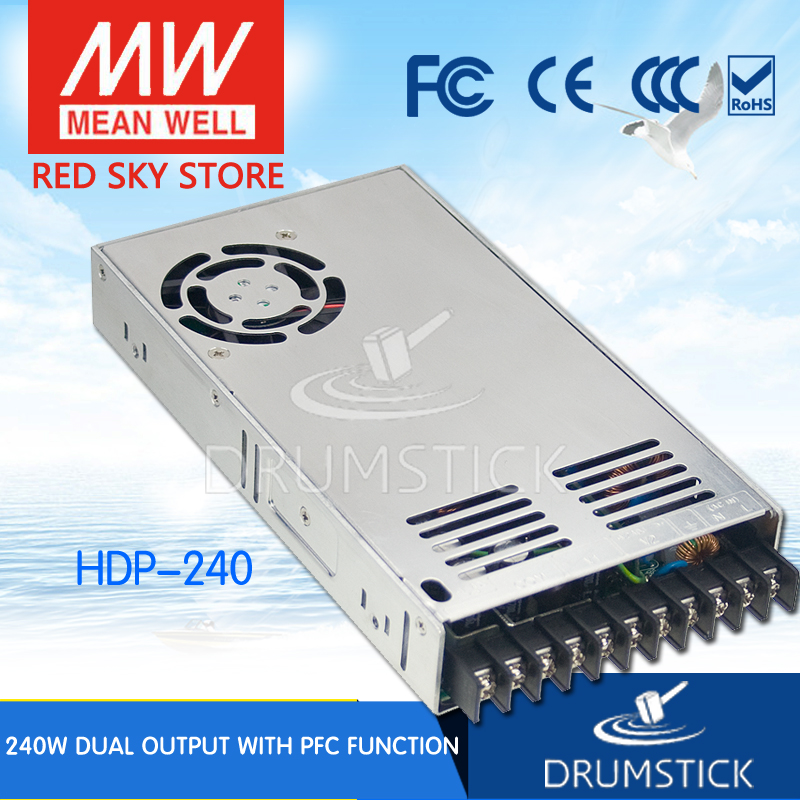 MEAN WELL HDP-240 meanwell HDP-240 227.7W Dual Output with PFC Function Power Supply nuforce icon hdp black