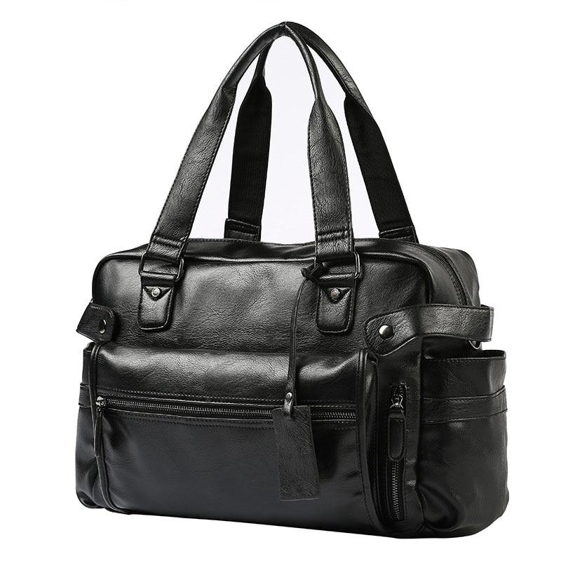Fashion Handbag PU Leather Men Briefcase Brand Luxury Men Messenger Bag For Male Business Shoulder Bags Travel Bag 2019