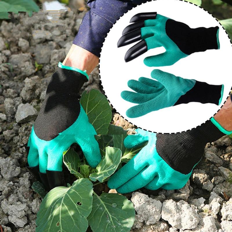 Guantes de excavación Garden Genie con puntas de los dedos Garras Rápido Fácil de excavar y plantar Seguro para mitones de poda de rosas Guantes de jardinería