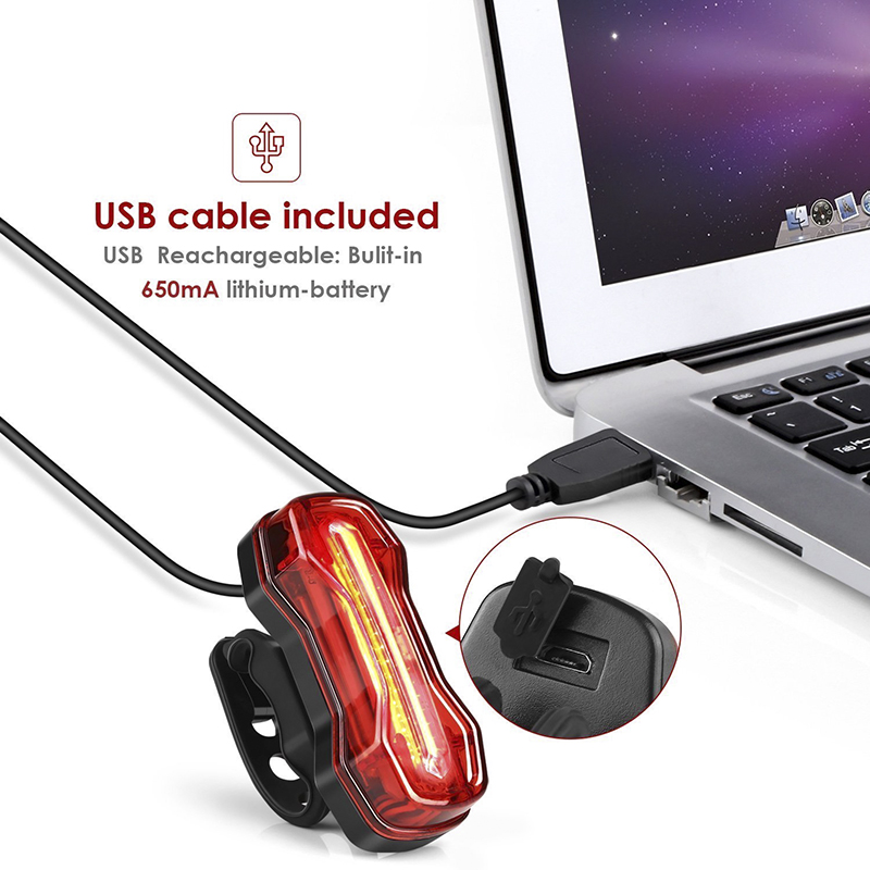 Wind Talk USB Led Bicycle Tail Light Waterproof 5 Modes Flashlight Cycling Warning Back Bycicle Mtb Bike Rear Light Safety