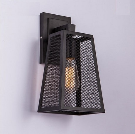 Loft Style Iron Net Edison Wall Sconce Industrial Lamp Vintage Wall Light For Home Antique Indoor Lighting Lampara Pared loft style iron edison wall sconce industrial lamp wheels vintage wall light fixtures antique indoor lighting lampara pared 220v