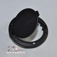 FREE SHIPPING Black Steel ABS Gas Fuel Cap Door Tank Covers for Wrangler Jk 2007 2008 2009 2010 2011 2012 2013 accessories