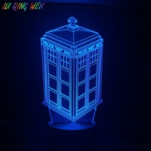 Call Box TARDIS 3d Lamp Nightlight Childrens Kid Baby Gift Telephone Booth Police Box Decorative Lamp Doctor Who Led Night Light цена и фото
