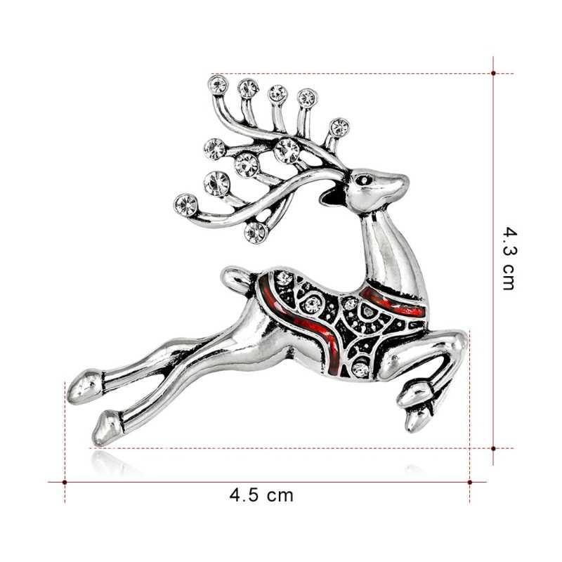 คริสต์มาสปีใหม่กวางโบราณเข็มกลัด Corsage ของขวัญจัดเลี้ยง Pins ประดับประณีตเข็มกลัด
