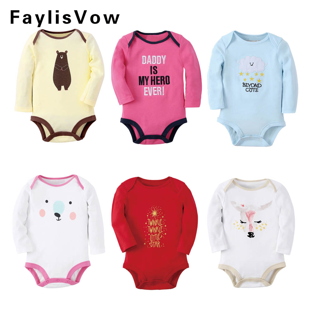 Clearance Cartoon Bear Baby Romper Long Sleeve Infant Cotton Jumpsuit Toddler Boys Girls Soft Outfit Clothing Newborn Rompers