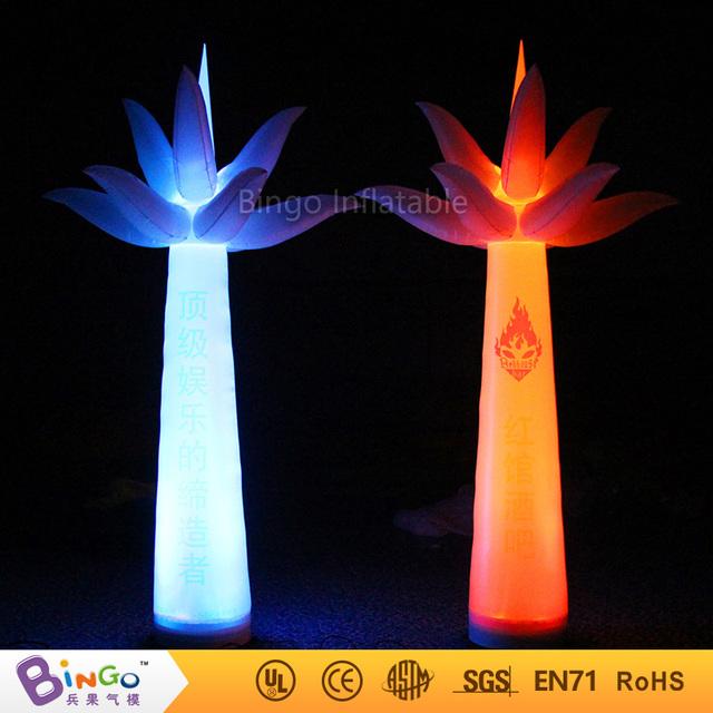 3 m de alta publicidad inflable árbol de pilares con luz led de color cambiable BG-A0709 iluminación decoración intermitente juguete