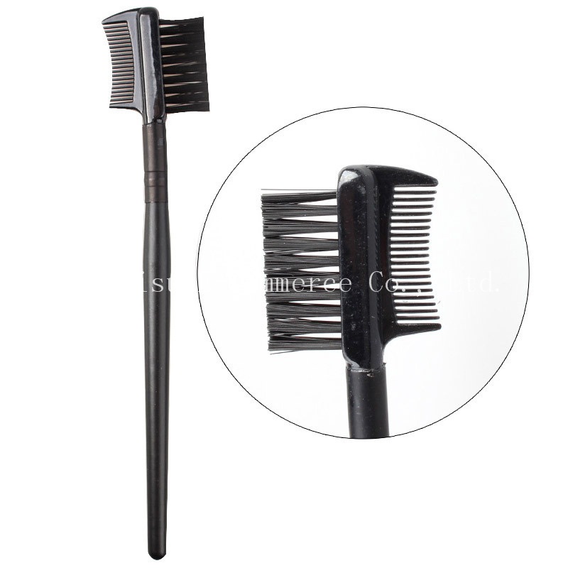 1000pcs Professional Black Eyelash brush Long Rod Eyebrow Comb Cosmetic Makeup Brushes Dual Makeup Tools