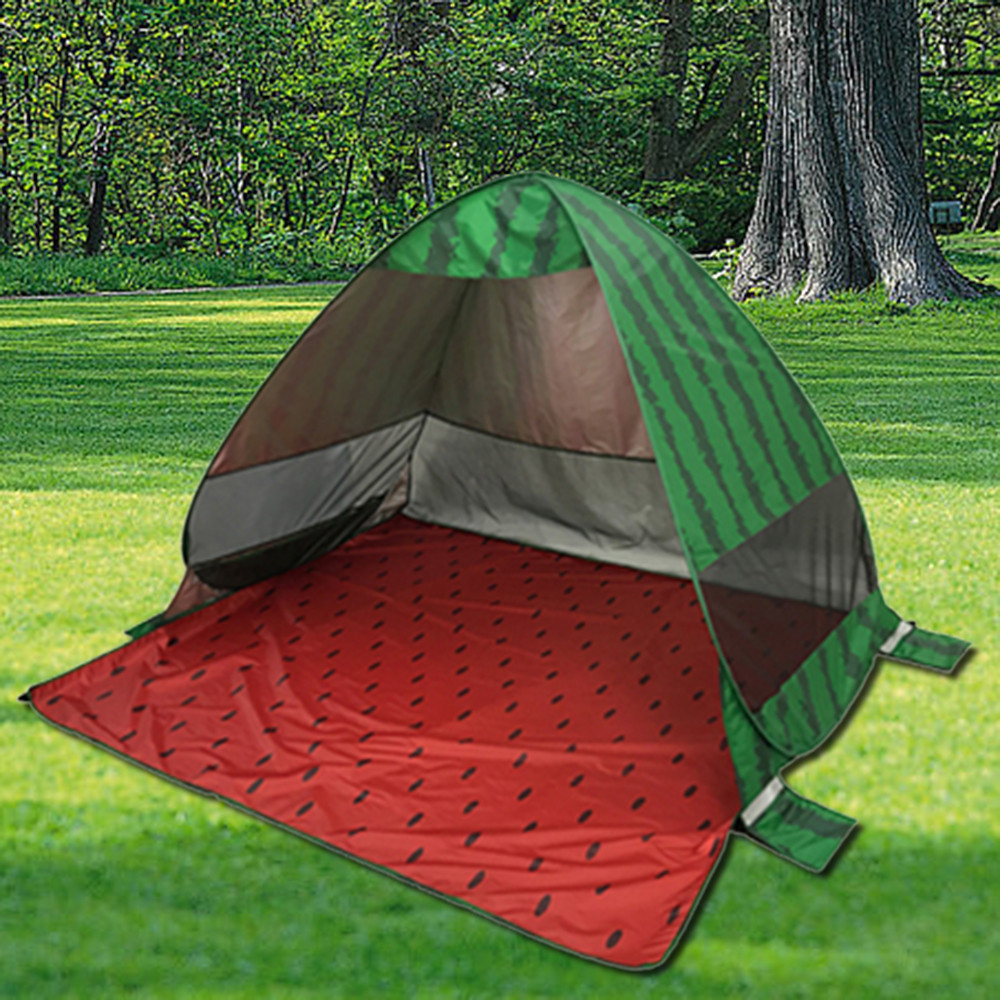 200*165*130cm Watermelon Automatic Camping Tents Free Build Waterproof Polyester UV Beach Tent Sand Sun Protect Outdoor image