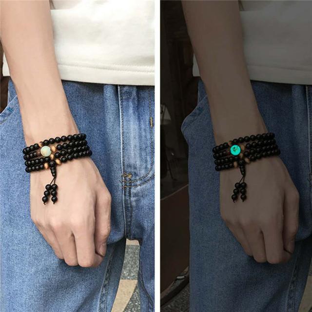 Luminous Dragon Mala Bracelet