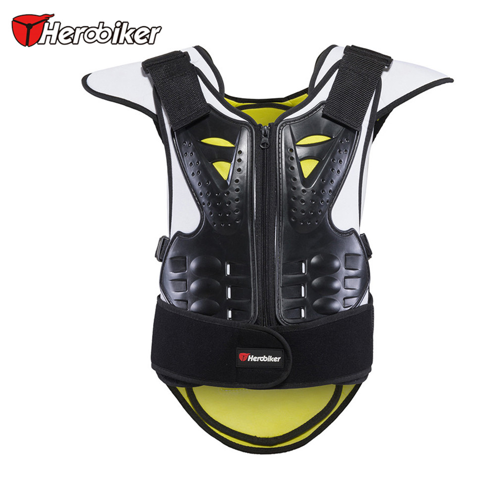 HEROBIKER Men Women Motorcycle Body Armor Vest Motocross Waistcoat Protector Unisex Motorcycle Armor Moto Protective Gear herobiker armor removable neck protection guards riding skating motorcycle racing protective gear full body armor protectors