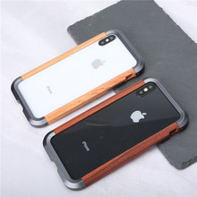 아이폰 11 11 프로 11 프로 맥스에 대 한 전화 케이스 아이폰 xs x에 대 한 럭셔리 하드 금속 알루미늄 나무 보호 범퍼 전화 케이스