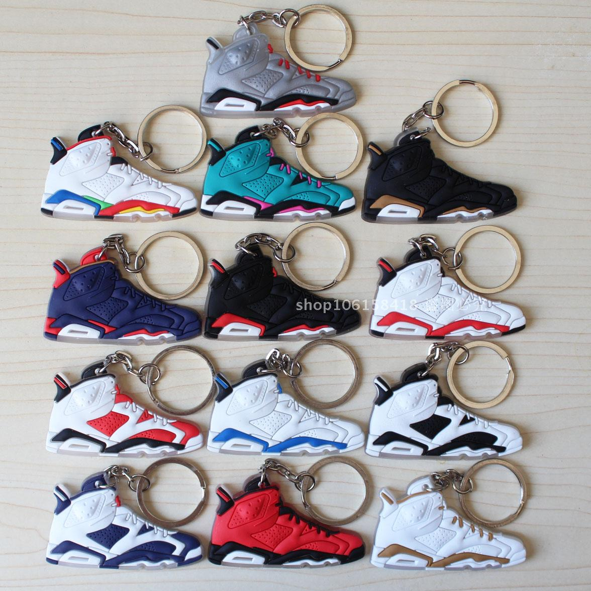 jordan retro 6 key chain, Air Jordan 6 keychain shoes key rings, cute sneaker keychain silicone key holder-in Key Chains from Jewelry & Accessories on ...