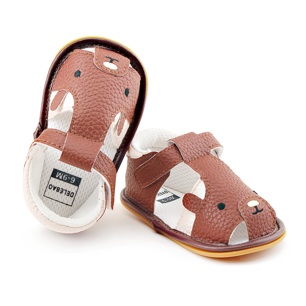 Newest baby girls boy summer shoes PU leather sandals for babe girls boys infants fashion comfortable hollow sandals
