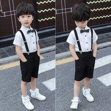 Overalls Children's Attire Wedding Suit-Set/boy's Baby-Boy Handsome 3-Pieces Lovely New-Arrival