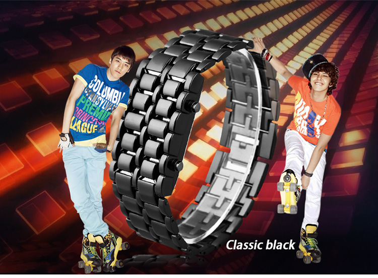 Aidis youth sports watches waterproof electronic second generation binary LED digital men's watch alloy wrist strap watch 12