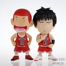 Anime Slam Dunk 17CM Q Version Hanamichi Sakuragi Rukawa Kaede PVC Action Figure Collectible Toy Model Brinquedos Christmas Gift