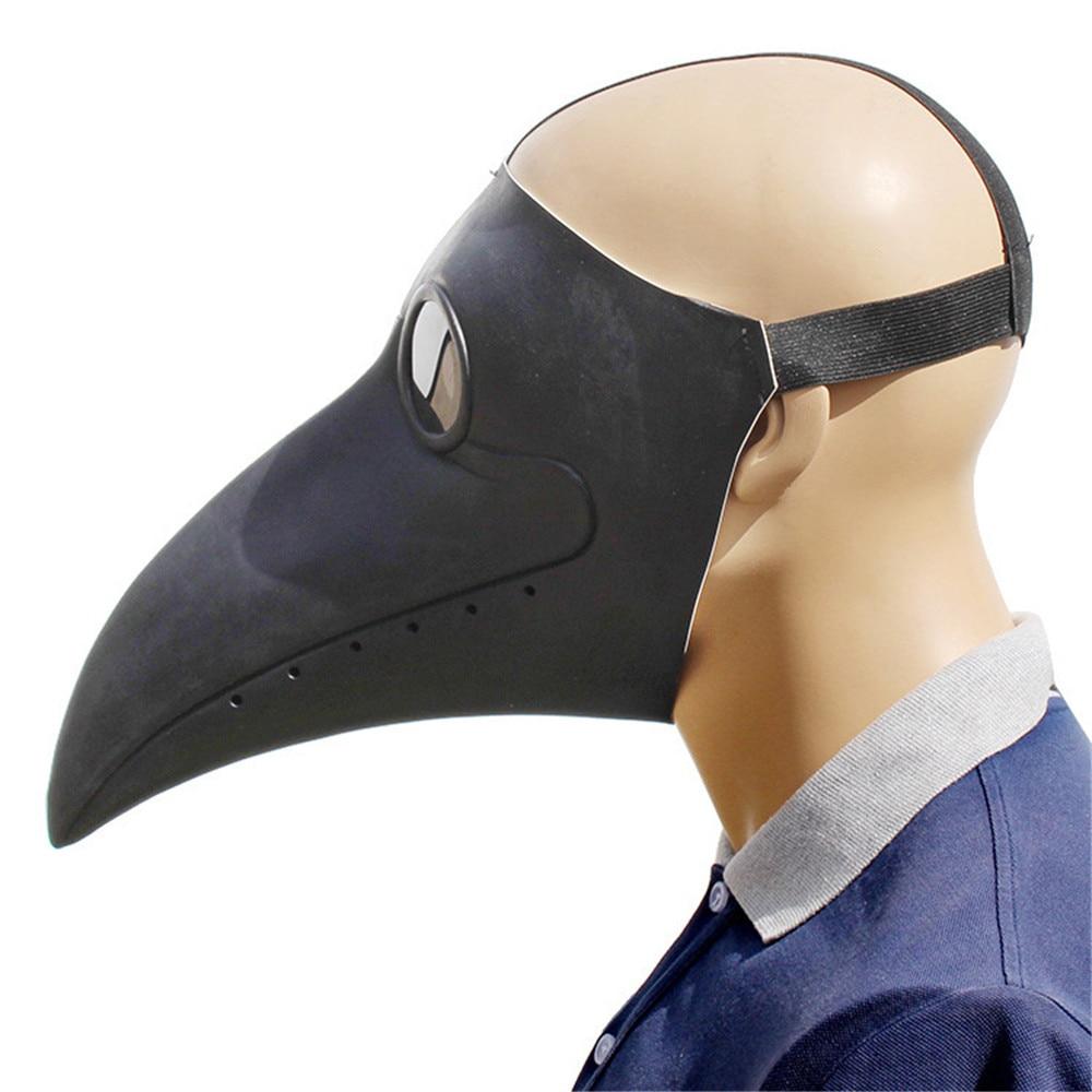 Чумной доктор Костюмы для косплея в стиле стимпанк Маска Птицы костюм необычное латексное платье маски вечеринка Хэллоуин