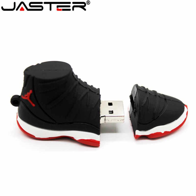 JASTER プロモーションミニクリエイティブ漫画外部ストレージ Usb 2.04 ギガバイト 8 ギガバイト 16 ギガバイト 32 ギガバイト 64 ギガバイト黒ジョーダンスニーカー USB フラッシュドライブ