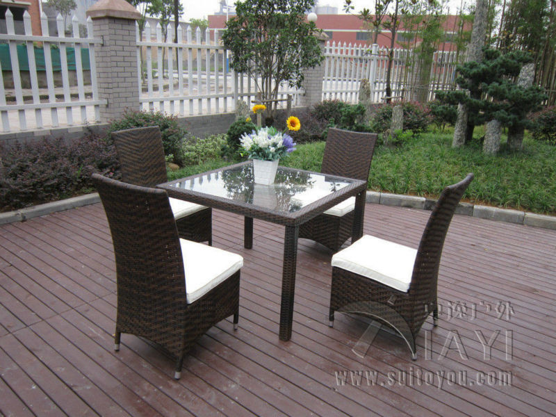5 pcs Excellent Rattan Garden Dining Sets For Dining Room / Conservatory transport by sea rattan dining room sets with cushion and tempered glass page 6