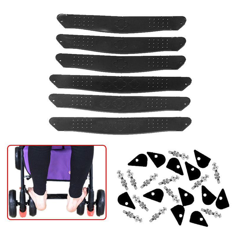 Подножка для детской коляски, подножка для ног, пластиковая черная Подножка для детской коляски, аксессуары для детской коляски, противоскользящая детская коляска