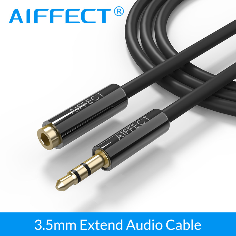 AIFFECT 3.5mm Audio Extension Cable Male to Female Aux Cable Headphone Cable Adapter for iPhone 6s 6 MP3 CD Player Radio