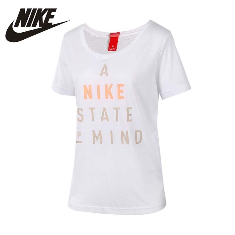NIKE Original 2017 New Arrival Womens T-shirt Round Neck Basketball <font><b>Shoes</b></font> Short Sleeve Flexible For Women#848700-100