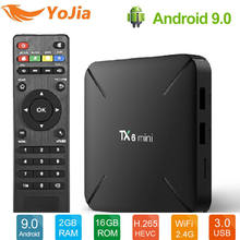 2019 NEW Mini 4K TV Box Android 9.0 2GB 16GB Allwinner H6 QuadCore USD3.0 2.4G Wifi Google Player Youtube Netflix PK TX3 X96(China)