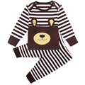Baby Boy Clothing Sets Cartoon Autumn Spring Infant Cute Clothes Set Long Sleeve T-shirt+Pants 2Pcs Animal Stripes Newborn Suits