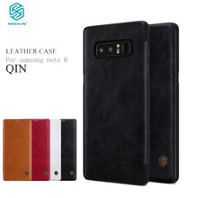 Nillkin Flip Case For Samsung Galaxy Note 8 Qin Series PU Leather Cover sFor Samsung Galaxy Note 8 Case sFor Samsung Note 8 Case