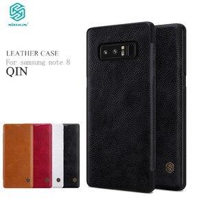 Image 1 - Nillkin Odwróć Case Do Samsung Galaxy Note 8 Qin Serii PU Skóra Pokrywa 4sfor Samsung Note 8 Przypadku